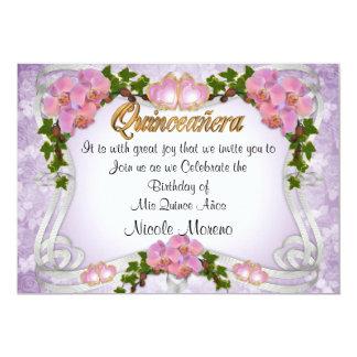 Aniversário do convite de Quinceanera 15o