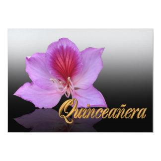 Aniversário do convite de Quinceanera 15o elegante