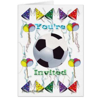 Aniversário do convite do futebol cartão de nota