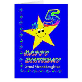Aniversário do costume o 5o Stars para o excelente Cartão