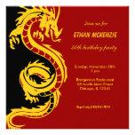 Aniversário do dragão convite personalizado