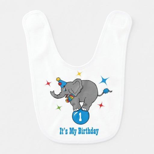Aniversário do elefante do circo babadores