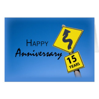 Aniversário do empregado 15 anos com empresa cartão comemorativo