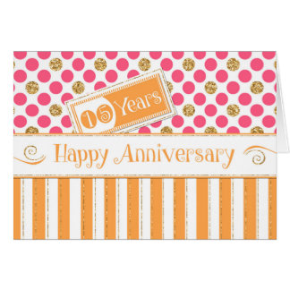 Aniversário do empregado 15 anos de rosa cartão comemorativo