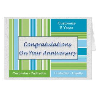 Aniversário do empregado cartão comemorativo