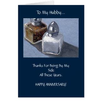 Aniversário do esposo: Abanadores de sal e de Cartão Comemorativo