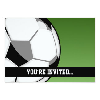 Aniversário do futebol convite 12.7 x 17.78cm