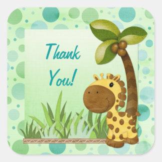 Aniversário do girafa dos pequenos do aniversário adesivos