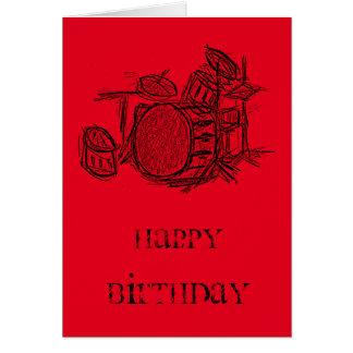 Aniversário do grunge do grupo de rock do jogo do cartão comemorativo