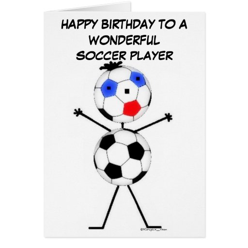 Aniversário do jogador de futebol cartão comemorativo