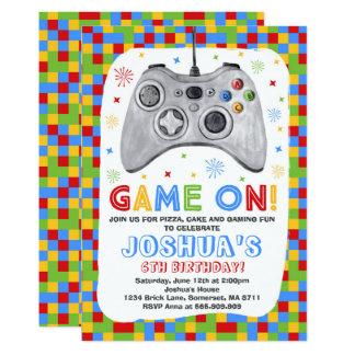 Aniversário do jogo de vídeo do convite do