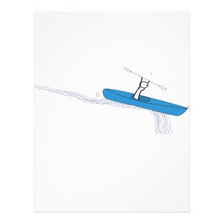 Aniversário do Kayaker Modelos De Panfleto