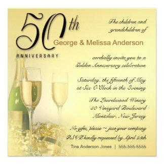 Aniversário do na moda 50th - convites quadrados