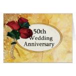 Aniversário do ouro 50 cartão comemorativo