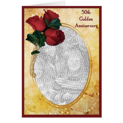 Aniversário do ouro 50th cartões