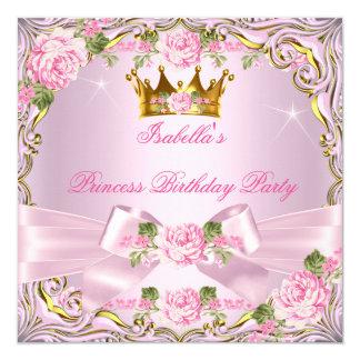 Aniversário do ouro da princesa Bonito Cora Convite Quadrado 13.35 X 13.35cm