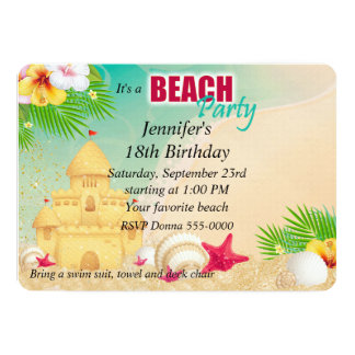 Aniversário do partido da praia do castelo da convites