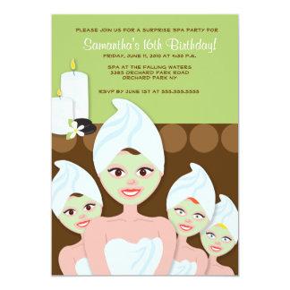 Aniversário do PARTIDO das meninas dos TERMAS ou Convite 12.7 X 17.78cm