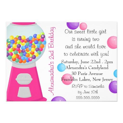 Aniversário do party girl dos doces da máquina da  convites