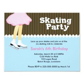 Aniversário do patinagem no gelo convite 10.79 x 13.97cm