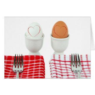 Aniversário do pequeno almoço para o esposo cartão comemorativo