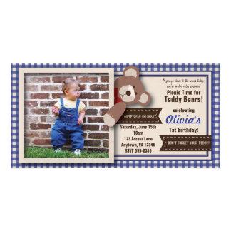 Aniversário do piquenique do urso de ursinho - cartão