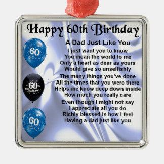 Aniversário do poema do pai 60th enfeites para arvore de natal