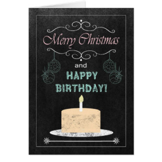 Aniversário do quadro no cartão de Natal