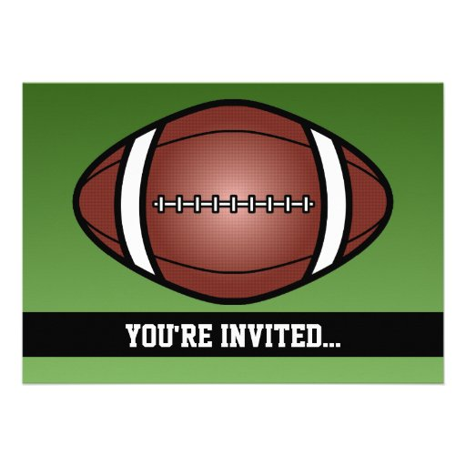 Aniversário do rugby do futebol convites personalizado