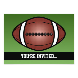 Aniversário do rugby do futebol convite 12.7 x 17.78cm