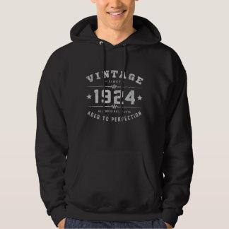 Aniversário do vintage 1924 moletom