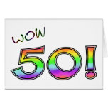 ANIVERSÁRIO do wow 50TH Cartão Comemorativo