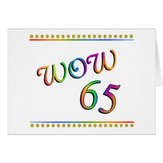 Aniversário do wow 65th - cartão engraçado