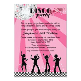Aniversário dos dançarinos do disco convite 12.7 x 17.78cm