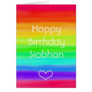 Aniversário dos parabéns do arco-íris algum cartão