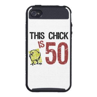 Aniversário engraçado das mulheres o 50th iPhone 4 capas