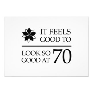 Aniversário engraçado do 70 (sente bom) convites personalizado