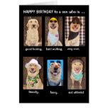 Aniversário engraçado do filho cartão comemorativo