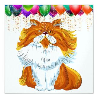 Aniversário engraçado do gato algum convite da