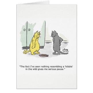 Aniversário engraçado do gato, cartão dos parabéns