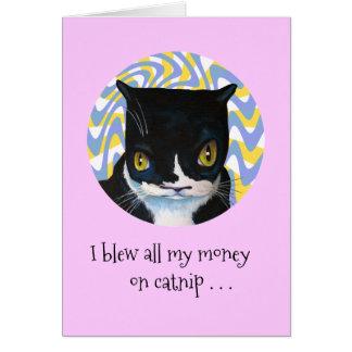 Aniversário engraçado do gato de Dang Cartão De Nota