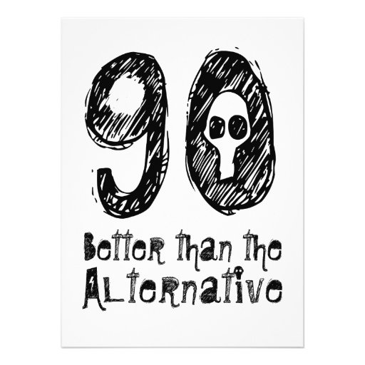 Aniversário engraçado Q90 do 90 90 melhor do que Convite Personalizado