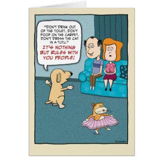 Aniversário engraçado: Regras do cão Cartão Comemorativo