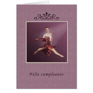 Aniversário, espanhol, cumpleanos de Feliz, Cartão Comemorativo