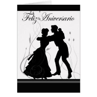 Aniversário-Espanhol feliz Cartão Comemorativo
