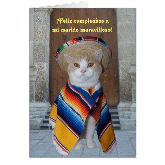 Aniversário espanhol para o marido (ou o namorado) cartões
