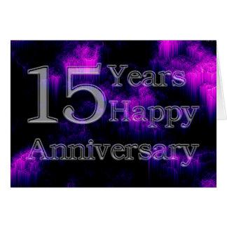 Aniversário feliz 15 anos (aniversário de cartão comemorativo