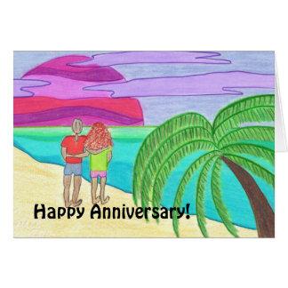 Aniversário feliz! À esposa Cartão Comemorativo
