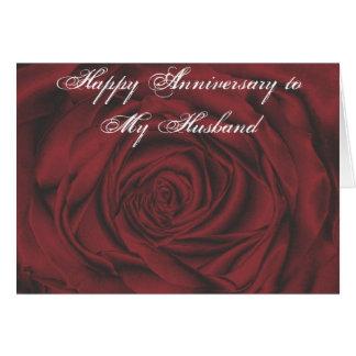 Aniversário feliz a meu cartão do marido