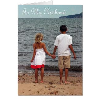 Aniversário feliz a meu marido - amor de minha cartão comemorativo